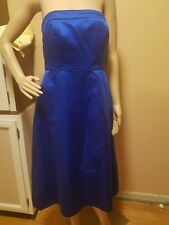 After six bridesmaid dress colbalt blue size 10 strapless passed knee