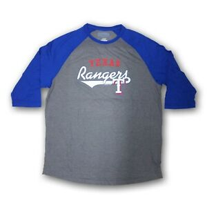 Texas Rangers Men's Majestic Dark Gray/Blue  3/4's Sleeve New Without Tags