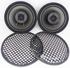 "2 x 8"" Inch 2 Way Car Subwoofer Bass Sub Speaker 360 Watts Pairs With Grill"