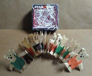 "Vintage Kurt S Adler Little Bear Paper Doll Garland 4 Ft x 1.5"" tall Christmas"