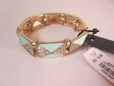 LOT OF 5 PCS J.Crew Factory Crystal Shapes Bracelet Teal Style A6231 NWT 34.50