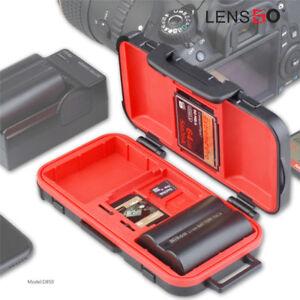 Camera Battery Memory Card Case Waterproof Battery Storage SD fr Camera 2CF 2XQD