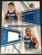2007-08 SP Game Used DARKO MILICIC JAMEER NELSON Dual Orlando Magic Jersey 45/99
