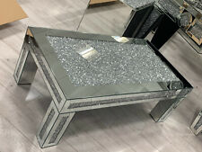 Mirrored Coffee Table Diamond Crystal Living Room Crushed Diamond Furniture