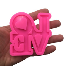 Love Silicone Mold, Shiny Mold for Epoxy Resin Crafts