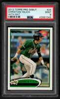 2012 Topps Pro Debut Christian Yelich RC #24 Greensboro Grasshoppers PSA 9
