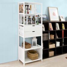SoBuy® Bibliothèque Meuble Colonne Salle de Bain Armoire Toilette FRG182-W FR