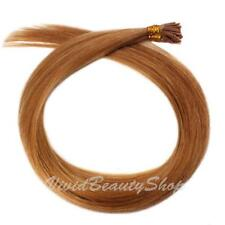 200 Pre Bond Stick I Tip Straight Remy Human Hair Extensions Strawberry Blonde