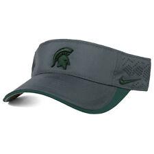 Nike Michigan State Spartans Football Dri-Fit Tech Visor Strapback Cap Hat-Gray