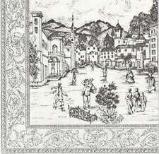 2 Serviettes en papier Toile de Jouy Paysage Hiver Decoupage Paper Napkins