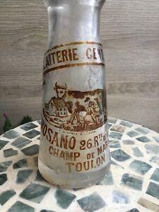 Toulon J. Rosano Champ De Mars Ancienne bouteille lait Art populaire La Vallette