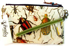 NEW pouch bag wristlet purse handmade in Australia HORSEFLY bugs beetles insects