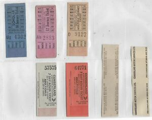 CUMBERLAND MOTOR SERVICES LIMITED  BUS / TRAM TICKETS X 13