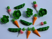 16 edible VEGETABLE PETER RABBIT INSPIRED carrot cake topper CUPCAKE DECORATIONS
