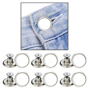 12 Pack 17mm Jeans Buttons w/Tool No Sewing Button for Jean Pants Replace
