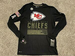 2020 Kansas City Chiefs Nike Salute to Service Dri-Fit Long Sleeve Shirt S - 3XL