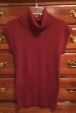 Burgundy Turtleneck Tunic Sweater Sz Small