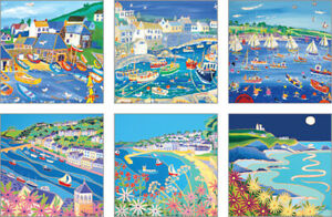 Arty blank notecards, 6 designs, 1 of each, 117 x 117mm, cards with envelopes