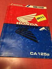 Honda CA125 Rebel CA 125 CA125S revue technique moto manuel atelier FR