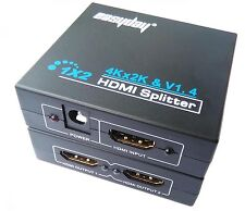 ED HDMI 1.4 1 in 2 out 1080p HDCP Stripper 1x2 Splitter Power Signal Amplifier