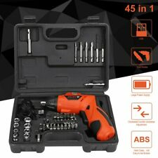 45PC Professional Wireless Cordless Electric Screwdriver Drill Kit Power Tools