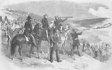 UKRAINE. Lord Raglan & Gen Canrobert nr Sevastopol, antique print, 1854