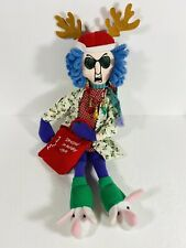 Maxine Plush Doll Hallmark Stressed in Holiday Style Stuffed Doll 14""