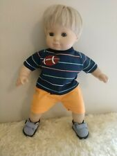 Shorts outfit, � football trim~t-shirt & shorts~handmade for BittyTwin
