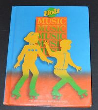 Music Textbook Hardcover Level 3 Holt, Rinehart and Winston Elementary
