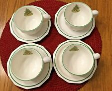 """Pfaltzgraff  """"CHRISTMAS HERITAGE""""  4 Cups & Saucers"""