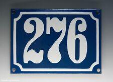 EMAILLE, EMAIL-HAUSNUMMER 276 in BLAU/WEISS um 1955