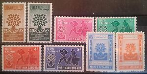Lebanon, Afghanistan, Viet-Nam MNH stamps lot - 1960 Refugee Year Joint Issue