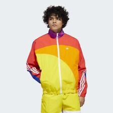 NWT Adidas Originals Men's LARGE L Pride Rainbow Off-Center Jacket GD0955 RARE!