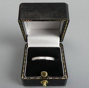 FINE 18 CT WHITE GOLD DIAMOND RING SIZE L BIRM. 2014 - 3.2 GRAMS