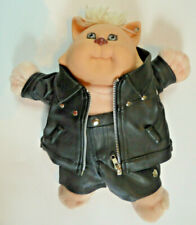 Koosas Cat Cabbage Patch Kids Custom Biker Doll Customized OOAK Leather Harley