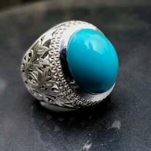 Natural feroza turquoise ring best quality feroza