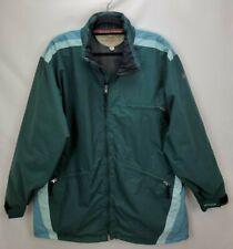 Burton Snowboards Biolight Snowboard Ski Jacket Coat Large Green Full Zip Shell