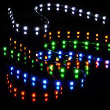 "4pcs 24"" Flexible LED Wheel Well Neon Glow Strip Lights Car Fender Lamps Decor"