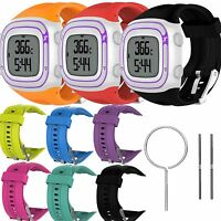 Sport Soft Silicone Watch Band Strap for Garmin Forerunner 10/15 With Tool S & L