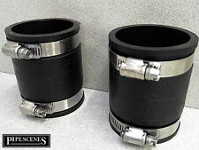 "2 X 50mm o 2"" bandseal tipo Flex Seal Goma Acoplador & Jubileo Clips"