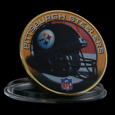 WR NFL Pittsburgh Steelers Gold Challenge Coin Best Football Gift For Men + Case