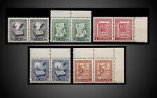 1953 ICELAND LETTERING MANUSCRIPT ST. JORN ,MANUSCRIPT PAIRS MNH SCT 278 -282