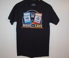 MAGIC VS CAVS SHIRT Small Black Tee Orlando Cleveland Cavaliers Basketball NBA