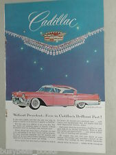 1957 CADILLAC DeVILLE advertisement, Sedan De Ville, Jeweled Crest