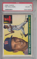 1955 Topps #2 Ted Williams Red Sox PSA 4 VG-EX Z10063