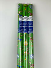 3 New TMNT Teenage MUTANT Ninja TURTLE Ornament CHRISTMAS 20sq ft WRAPPING Paper