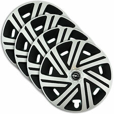 "Hub Caps 16"" OPEL Vectra Corsa Signum 4x Wheel Trim Cover SILVER+BLACK CYRKON"
