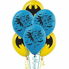 "Batman Party Supplies 6 Latex Balloons 12"" Helium Quality"
