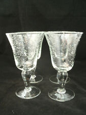 "Ballard Design Crystal EMMA Seeded Glassware 4-6 1/2"" Wine Goblets Air Bubbles"