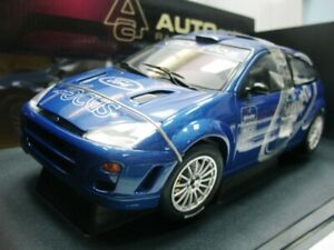 WOW EXTREMELY RARE Ford Focus RS WRC Blue Presentation 1999 Dunton 1:18 Auto Art